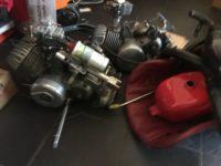 Motori per Go kart epoca con accessori
